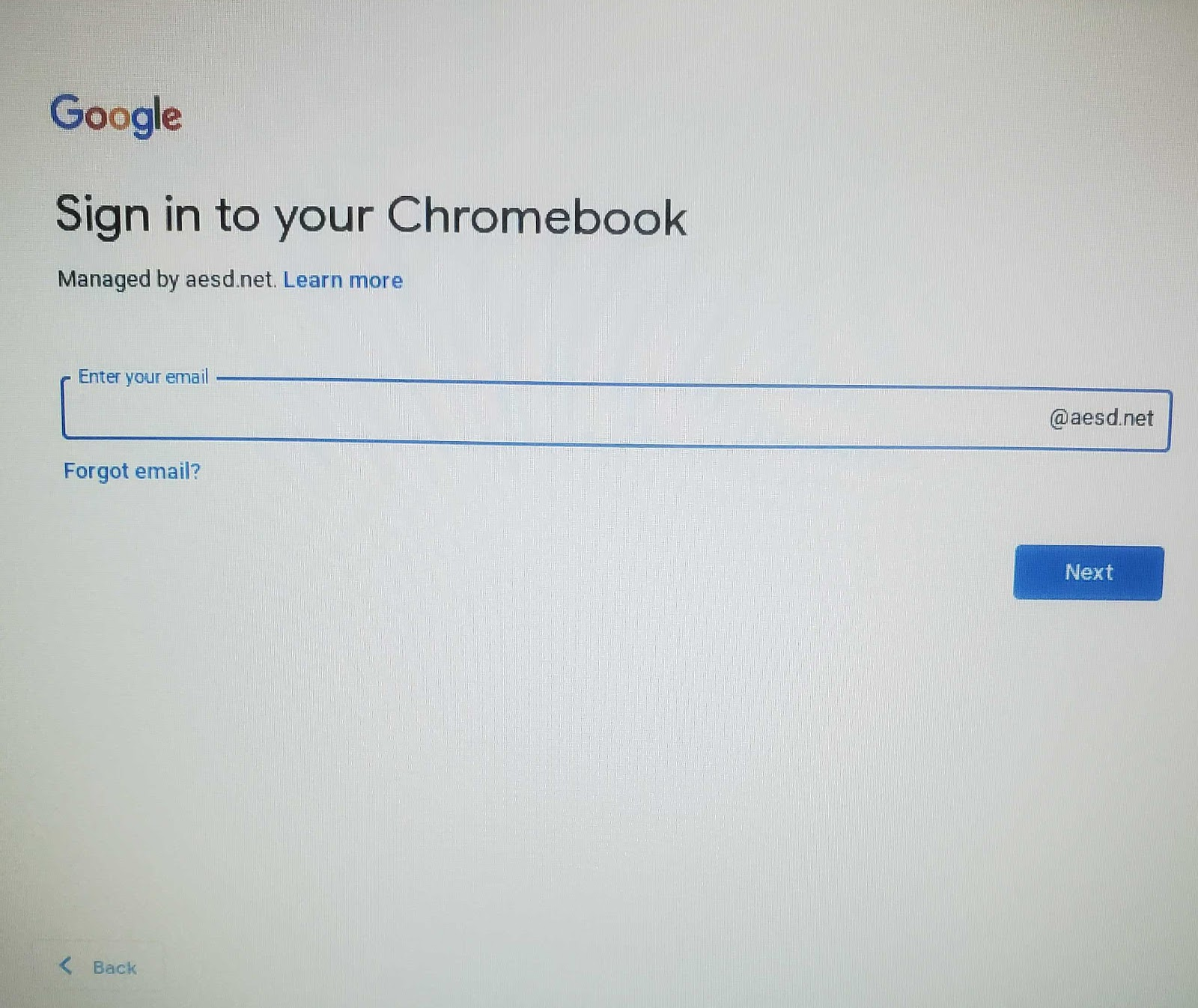 Chromebook Username