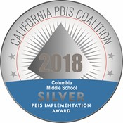 PBIS Silver Medal - Columbia Middle School 2018