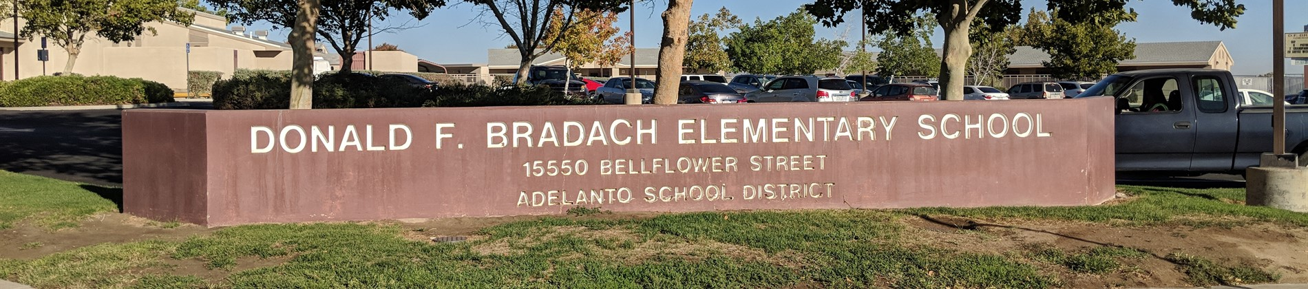 Bradach Sign & Campus Entrance